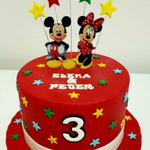 TARTA MINNIE Y MICKEY